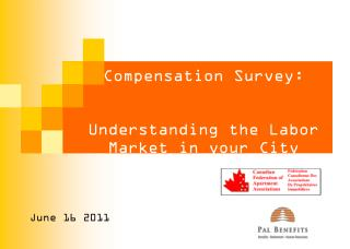 Compensation Survey:  Understanding the Labor  Market in your City
