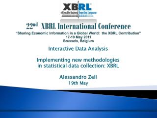Interactive Data Analysis Implementing new methodologies   in statistical data collection: XBRL