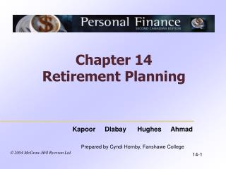Chapter 14 Retirement Planning