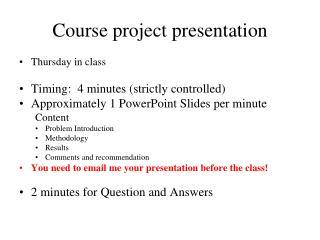 Course project presentation