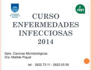 CURSO ENFERMEDADES INFECCIOSAS 2014
