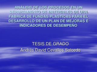 TESIS DE GRADO Andr�s David Cevallos Salcedo