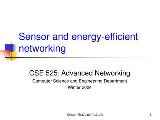 Sensor and energy-efficient networking