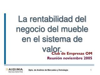 Club de Empresas OM Reunión noviembre 2005
