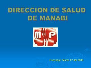 DIRECCION DE SALUD  DE MANABI