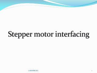 Stepper motor interfacing