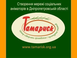Створення мережі соціальних аніматорів в Дніпропетровській області