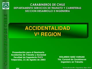 ACCIDENTALIDAD  Vª REGION