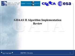 GDAAS II Algorithm Implementation Review