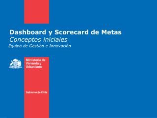 Dashboard y Scorecard de Metas Conceptos iniciales