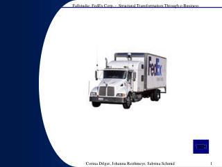 Entwicklung der FedEx Corp .