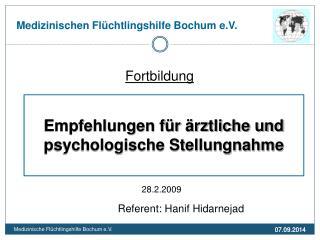Medizinischen Flüchtlingshilfe Bochum e.V.