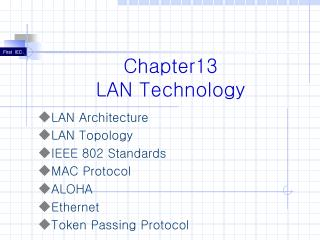 Chapter13 LAN Technology