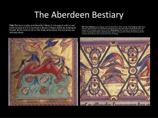 The Aberdeen Bestiary
