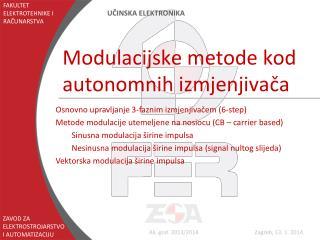 Modulacijske metode kod autonomnih izmjenjivača