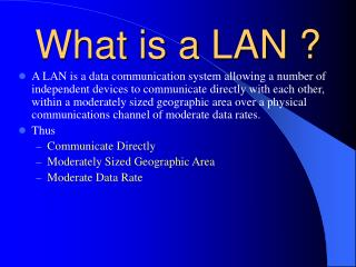 What is a LAN ?
