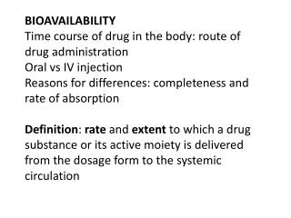 Estimating bioavailability