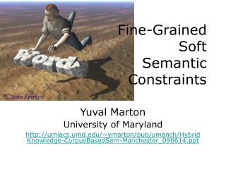 Fine-Grained  Soft  Semantic  Constraints