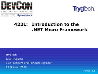 422L:	Introduction to the .NET Micro Framework