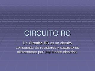 CIRCUITO RC