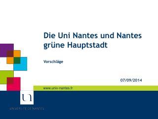 Die Uni Nantes und Nantes grüne Hauptstadt Vorschläge