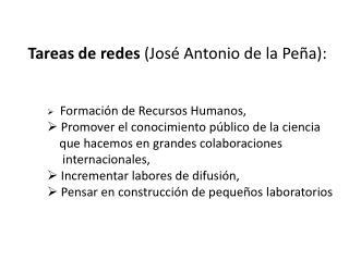 Tareas de redes  (José Antonio de la Peña):