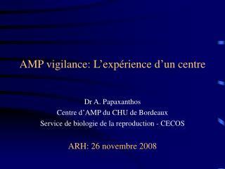 AMP vigilance: L�exp�rience d�un centre