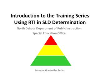 Introduction to the Training Series Using RTI in SLD Determination