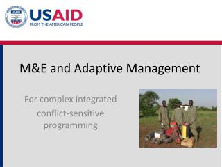 M&E and Adaptive Management
