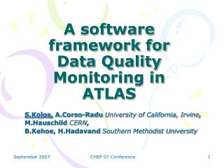 A software framework for Data Quality Monitoring in ATLAS