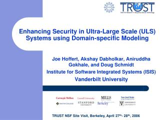 Enhancing Security in Ultra-Large Scale (ULS) Systems using Domain-specific Modeling
