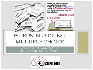 Words in context Multiple Choice
