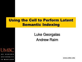 Using the Cell to Perform Latent Semantic Indexing