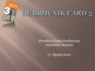 Dubrovnik  Card  3
