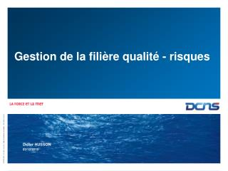 Gestion de la fili�re qualit� - risques