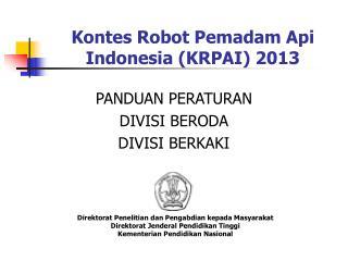 Kontes Robot Pemadam Api Indonesia (KRPAI) 2013