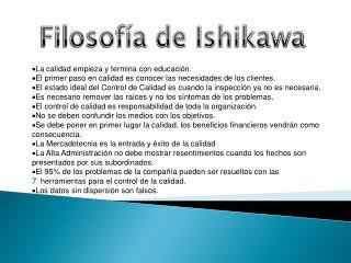 Filosofía de Ishikawa