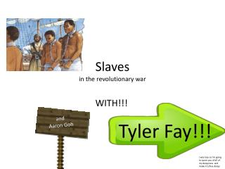 Slaves in the revolutionary war