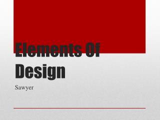 Elements  O f Design