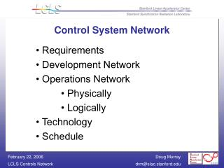 Control System Network