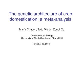 The genetic architecture of crop domestication: a meta-analysis