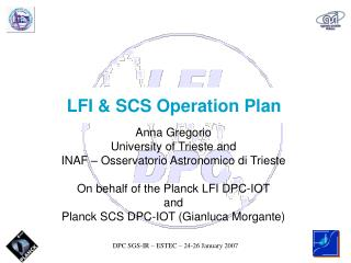 LFI & SCS Operation Plan