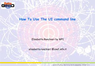 How To Use The UI command line