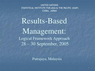 Results-Based Management:  Logical Framework Approach   28   30 September, 2005