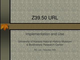 Z39.50 URL