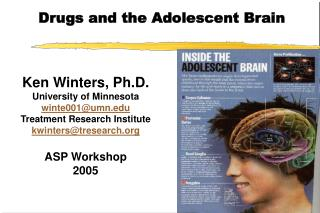 Drugs and the Adolescent Brain