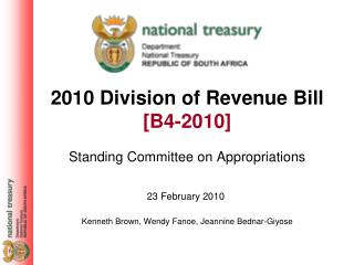 2010 Division of Revenue Bill [B4-2010]