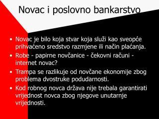 Novac i poslovno bankarstvo
