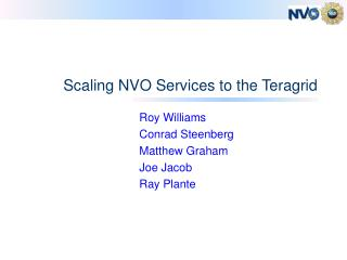 Scaling NVO Services to the Teragrid