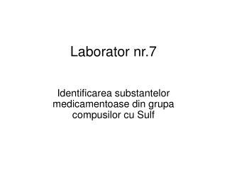 Laborator nr.7